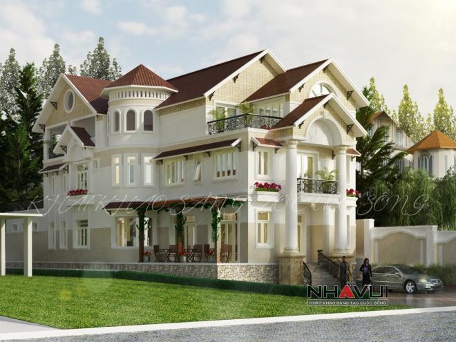 Khmer Exterior Villa Villa-EC60 in Cambodia