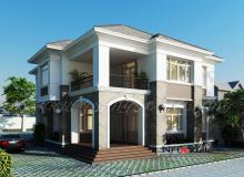 Khmer Exterior Villa Villa-EC63 in Cambodia