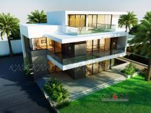 Khmer Exterior Villa Villa-EC68 in Cambodia