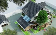 Khmer Exterior Villa Villa-EC69 in Cambodia