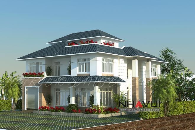 Khmer Exterior Villa Villa-EC71 in Cambodia