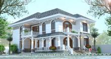 Khmer Exterior Villa Villa-EC76 in Cambodia