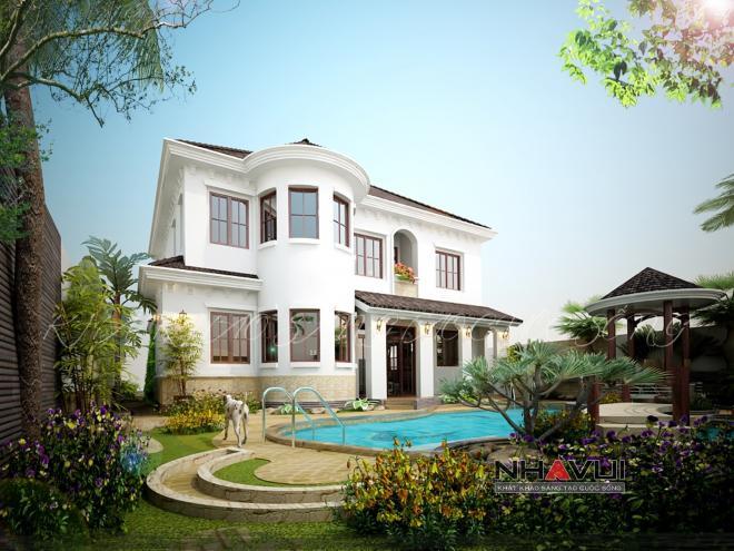 Khmer Exterior Villa Villa-EC77 in Cambodia