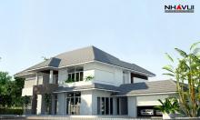 Khmer Exterior Villa Villa-EC78 in Cambodia