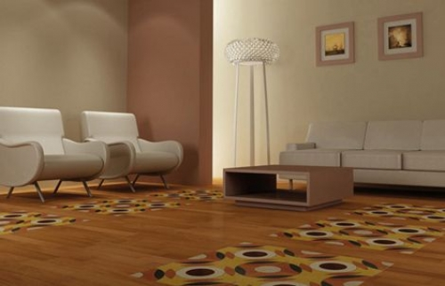 Khmer Interior Living Room Abstract Tiles from Fogazza in Cambodia