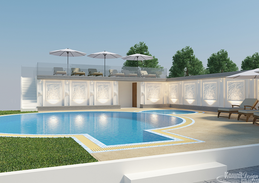 Khmer Exterior Outdoor Living Pool-EP8 in Cambodia