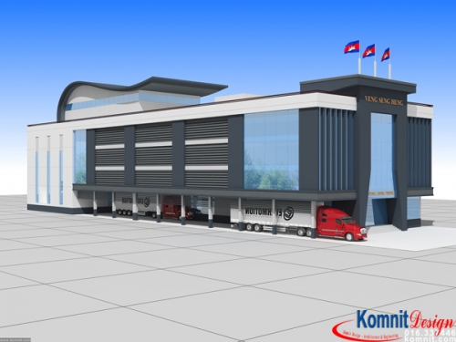 Khmer Exterior Showroom SR-K8 in Cambodia