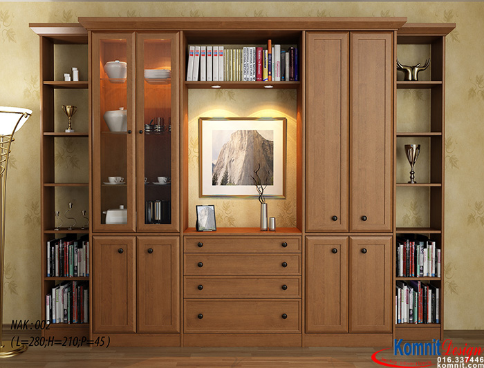 Khmer Furniture Display Cabinet CA-K001 in Cambodia
