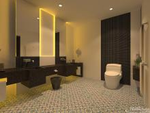 Khmer Interior Bathroom Primium Singal Bed Hotel-EP13 in Cambodia