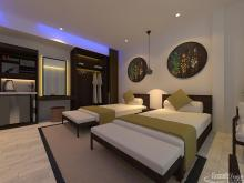 Khmer Interior Bedroom Twin beds of Hotel-EP13 in Cambodia