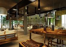 Khmer Interior Restaurant Restaurant-IP9 in Cambodia