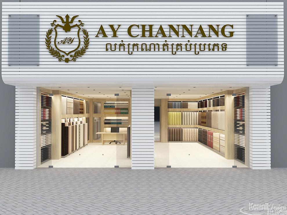 Khmer Exterior Showroom Showroom-IP2 in Cambodia